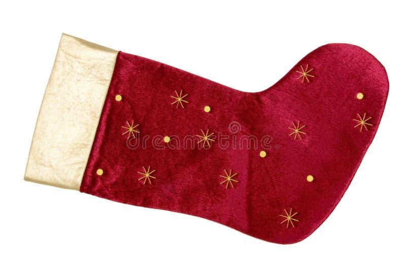 Meia vermelha do Natal foto de stock royalty free