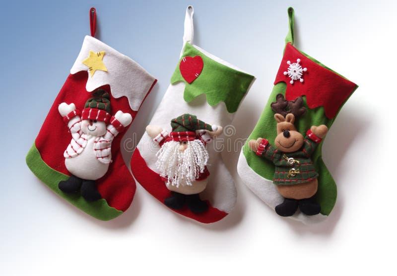 Meias do Natal imagem de stock royalty free
