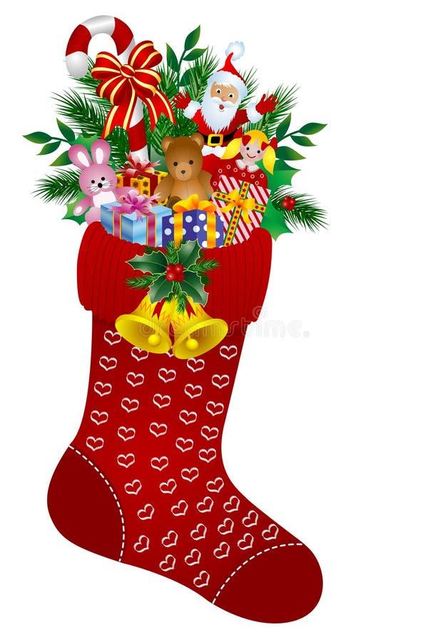Meias do Natal ilustração stock