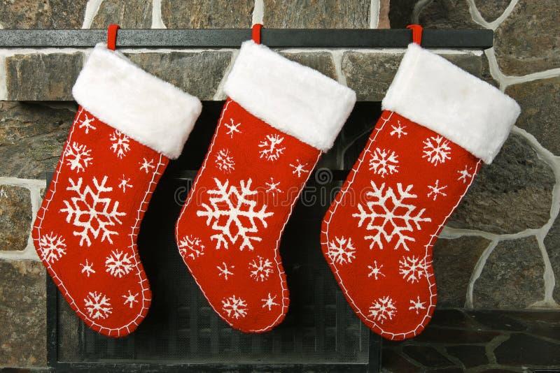 Meias do Natal fotografia de stock