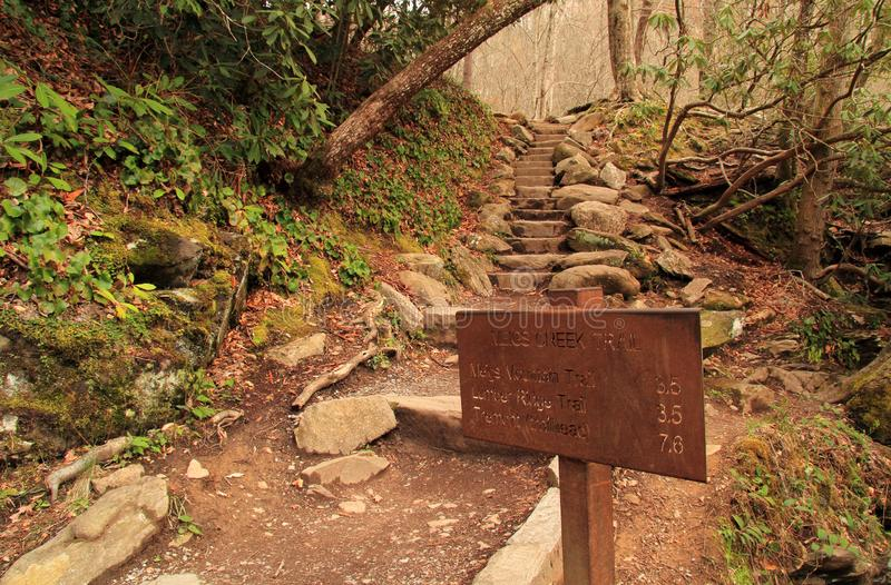 Meigs Creek Backcountry Hiking Trail stock photography