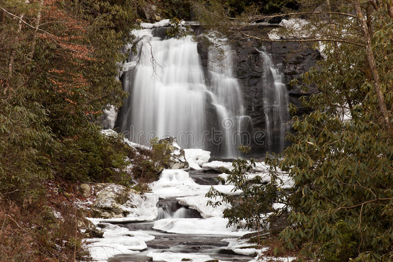 Meigs Falls on Little River in Great Smoky Mountains stock image