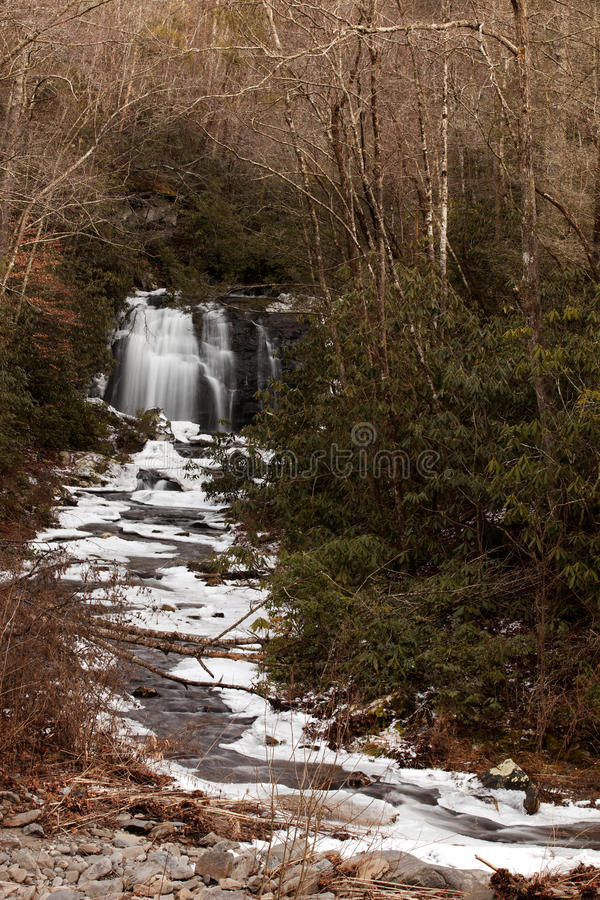 Meigs Falls on Little River in Great Smoky Mountains stock images