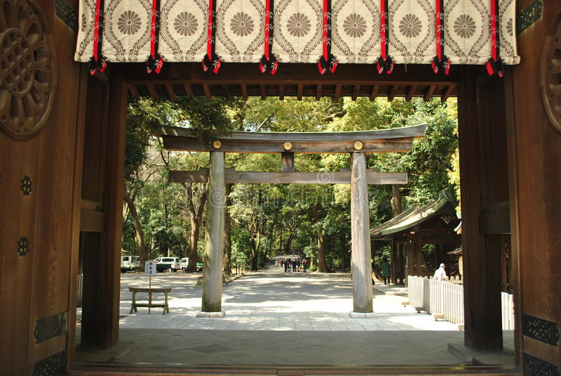 Meiji Jingu en Tokio foto de archivo libre de regalías