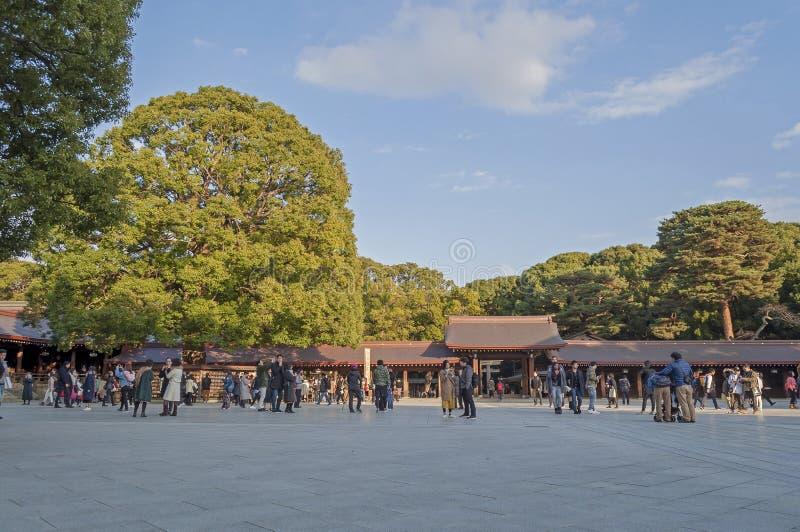 Meiji Jingu i Harajuku, Japan arkivbilder