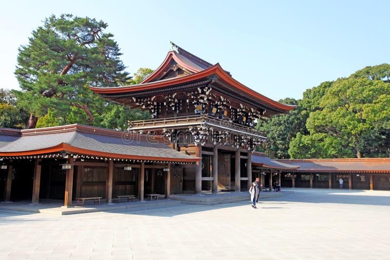 Meiji Jingu Shrine en Shibuya, Tokio fotografía de archivo