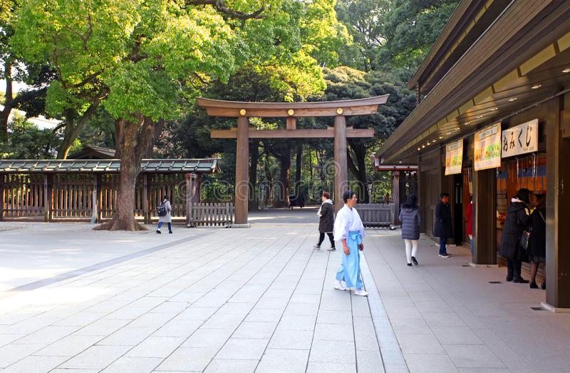Meiji Jingu Shrine en Shibuya, Tokio imagen de archivo libre de regalías