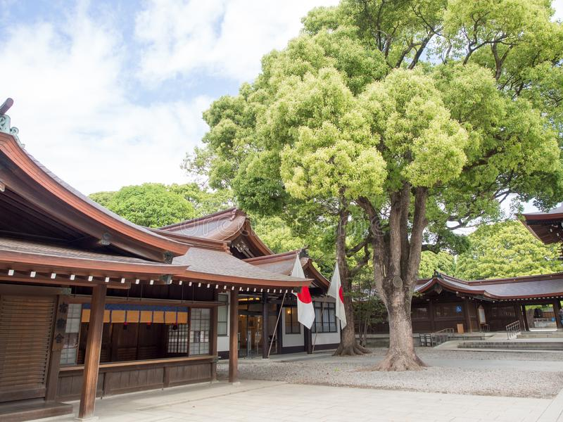 Meiji Jingu ?wi?tynia, Tokio, Japonia obrazy royalty free