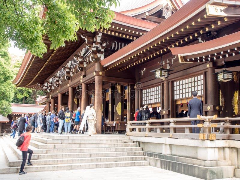 Meiji Jingu ?wi?tynia, Tokio, Japonia obraz royalty free