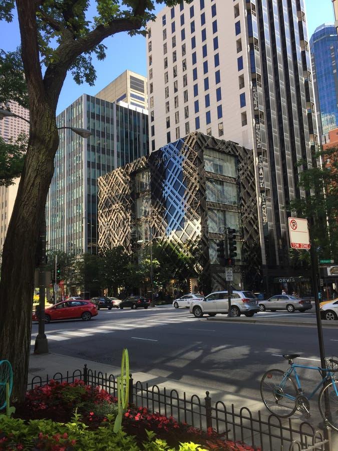 Meile Chicagos ausgezeichneter Burberry-Speicher lizenzfreie stockfotografie