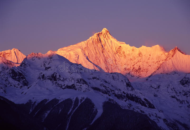 Meili Snow Mountains At Sunrise Stock Photo - Image of ...