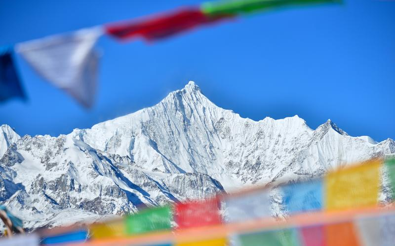 Meili toont bergparadijs royalty-vrije stock afbeelding