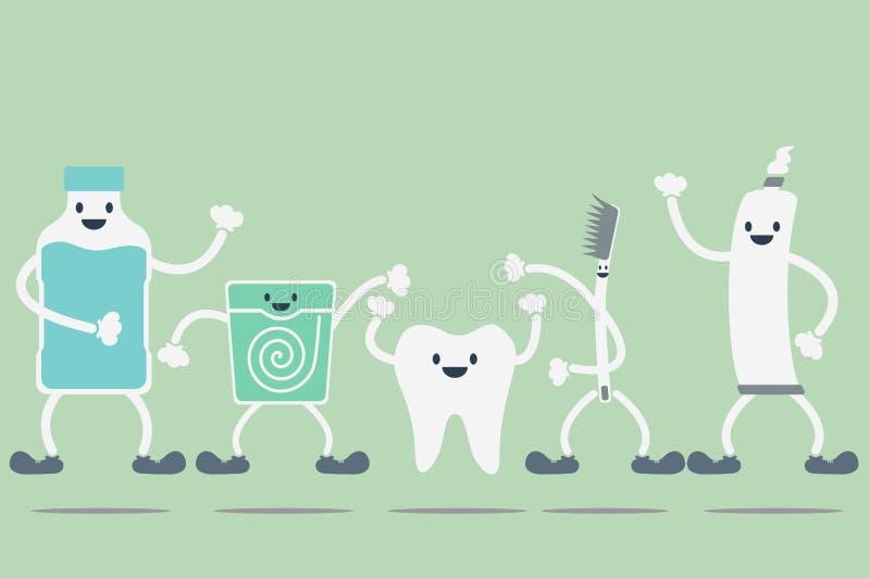 Meilleur ami de dents illustration de vecteur