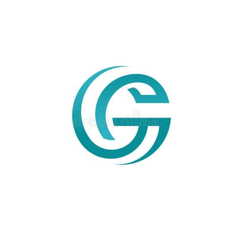Meilleur concept abstrait de logo de style de cercle de la lettre G illustration libre de droits