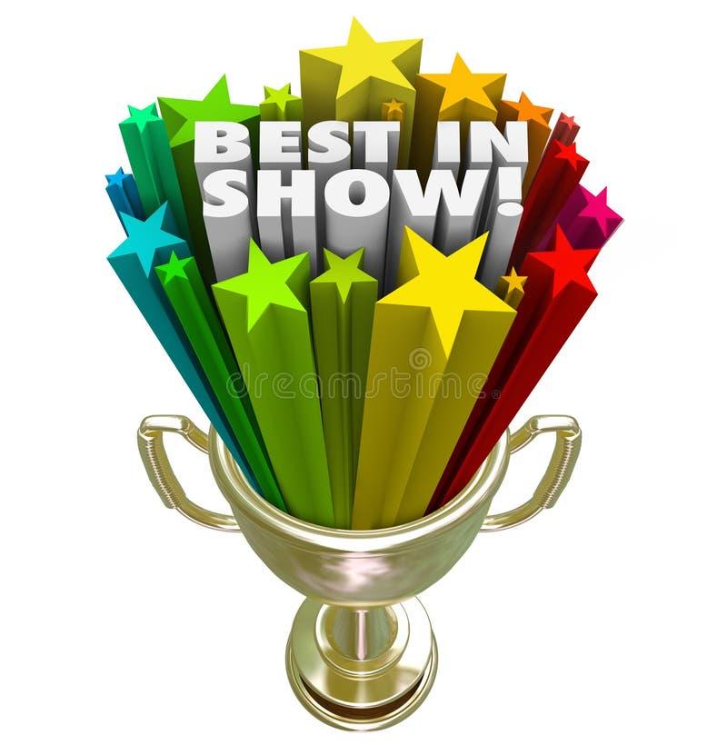 Meilleur dans le prix de gagnant d'interprète de dessus de récompense de trophée d'exposition illustration libre de droits