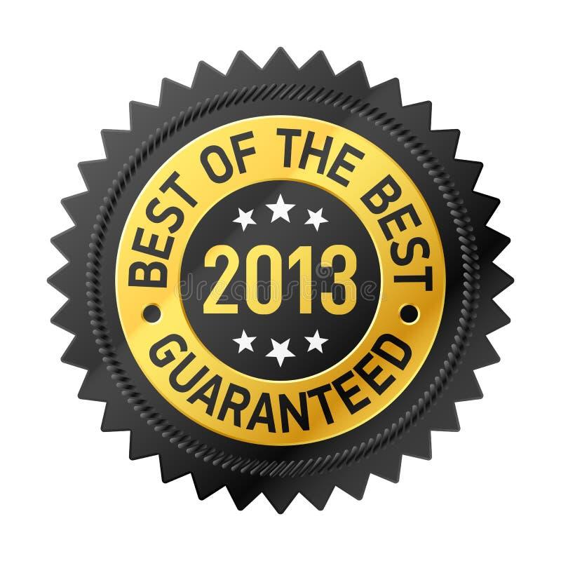 Meilleur de l'étiquette du meilleur 2013 illustration stock