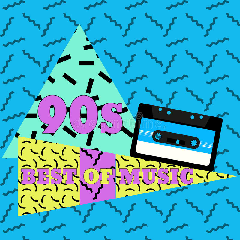 Meilleur de la musique 90s illustration stock