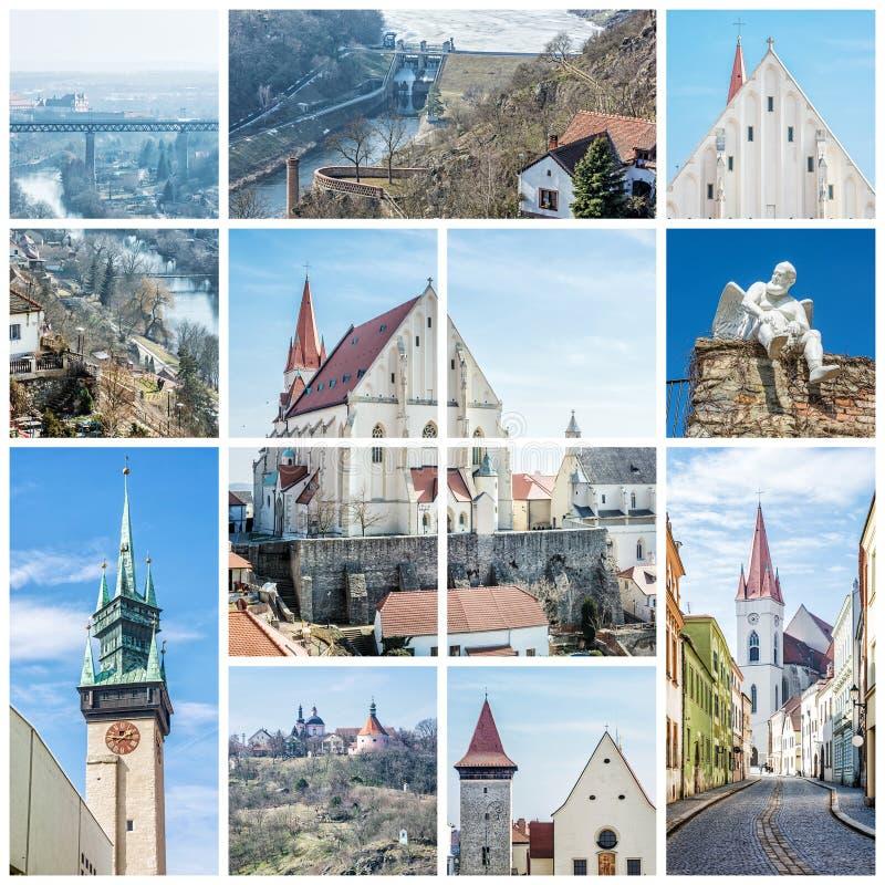 Meilleur de Znojmo, République Tchèque, collage photo stock