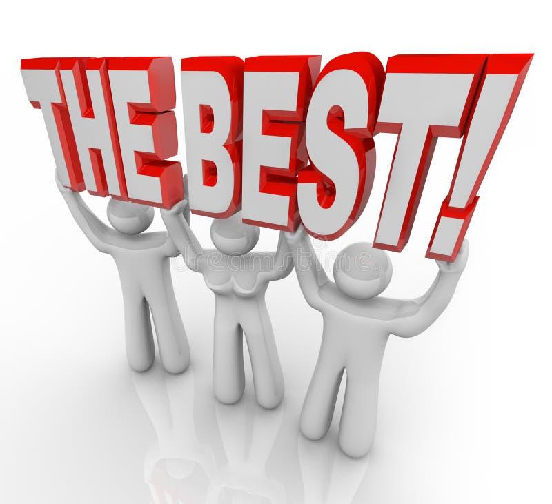 Meilleur Team Lifting Words Top Winners célèbrent illustration libre de droits