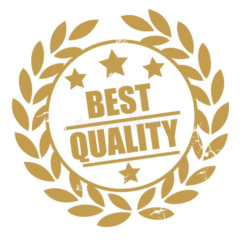 Meilleur timbre d'or de qualité illustration libre de droits