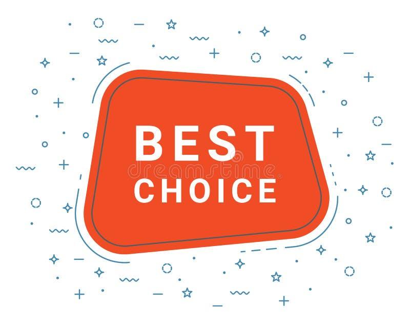 Meilleure bulle bien choisie rouge de la parole haut-parleur Illustrations pour le marketing de promotion pour des copies et des  illustration de vecteur