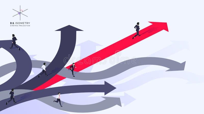 Meilleure illustration bien choisie isométrique conceptuelle de vecteur illustration stock