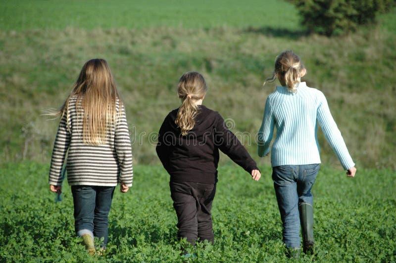 Meilleurs amis, 3 filles photo stock