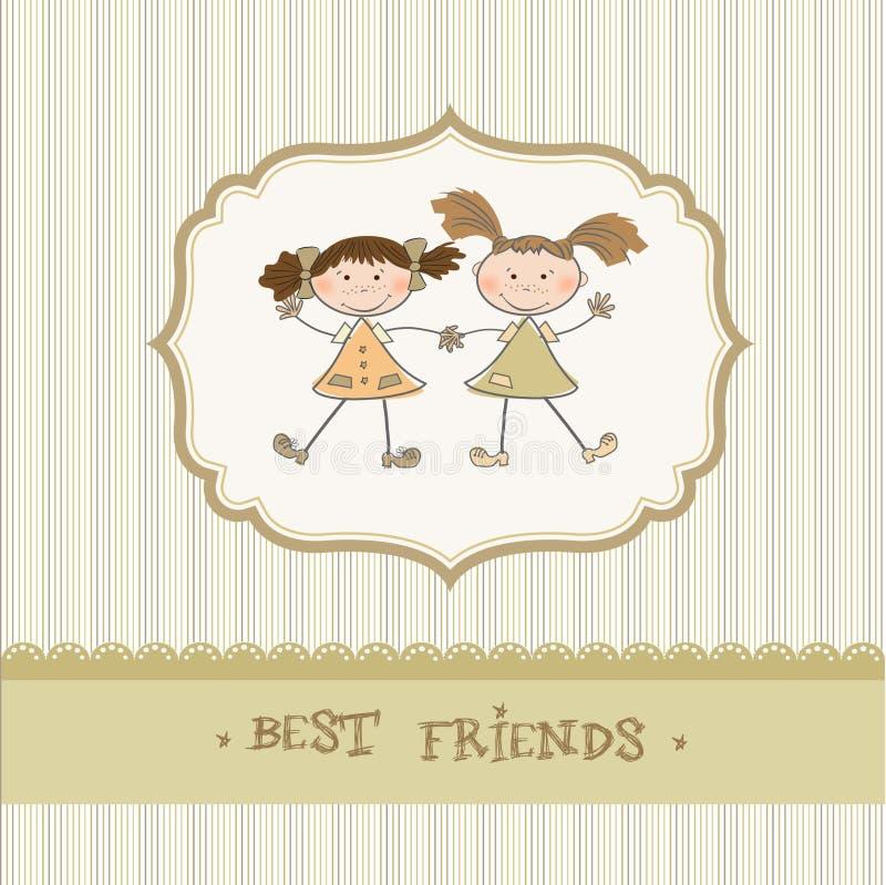 meilleurs amis de petites filles illustration stock