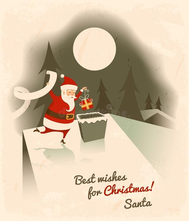 Meilleurs voeux pour Noël illustration de vecteur