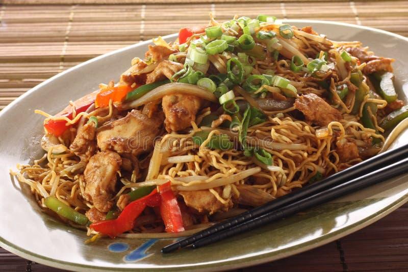 mein чау-чау цыпленка стоковое изображение rf