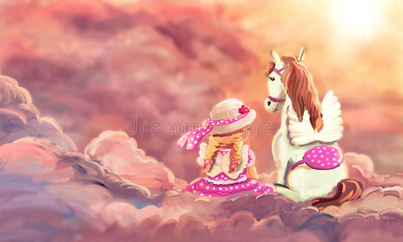 Mein bester Freund - Pegasus lizenzfreie abbildung
