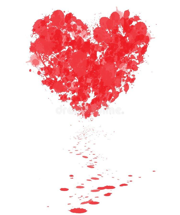 Mein blutendes Herz stock abbildung
