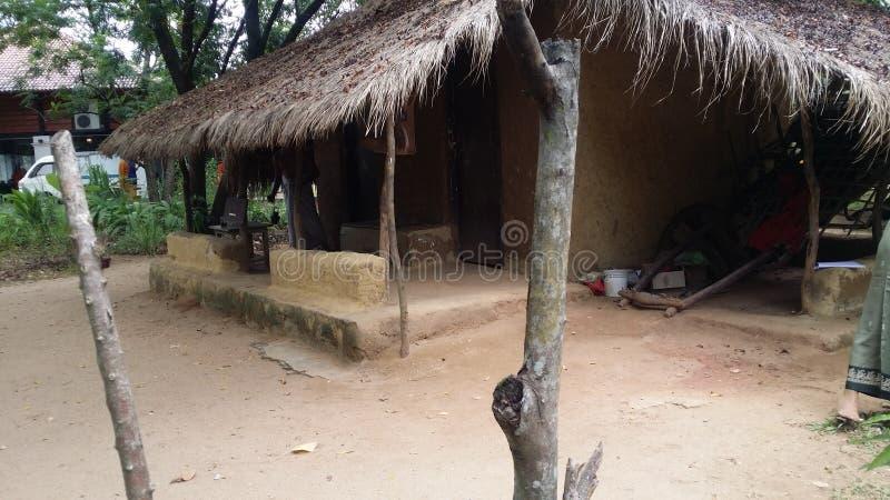 Mein Dorf und meine Reise stockbild