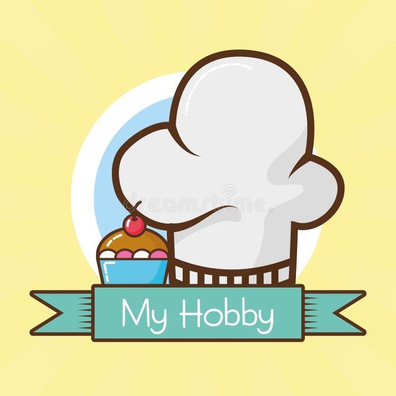 Mein Hobby bezog sich stock abbildung