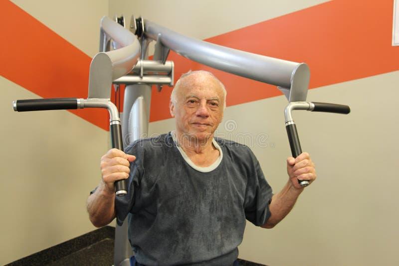 Mein 83-Jähriger voll des Energieschwiegervaters lizenzfreies stockbild