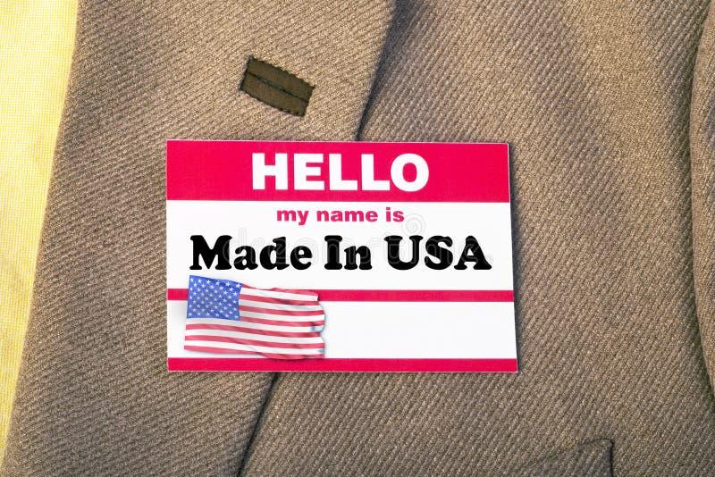 Mein Name ist Made in USA lizenzfreie stockfotografie