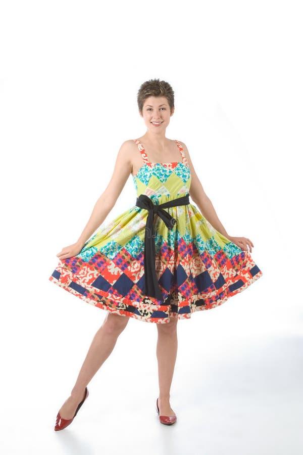 Mein neues Kleid stockfoto
