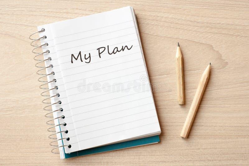 Mein Plan stockfotos