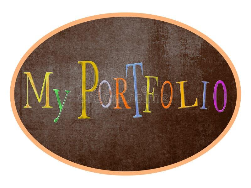 Mein Portfolio, beschriftend für Blog, Geschäft, Fahnen stockfotos