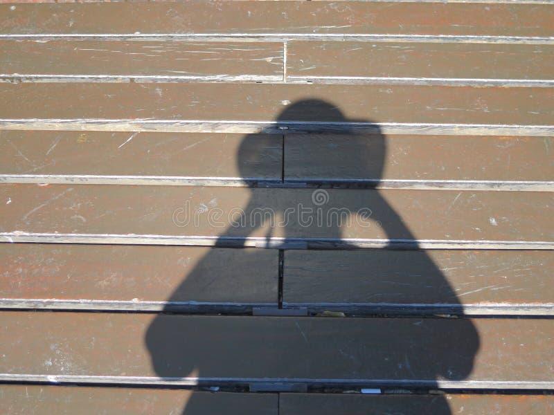 Mein Schatten fotografiert die Straße stockfoto