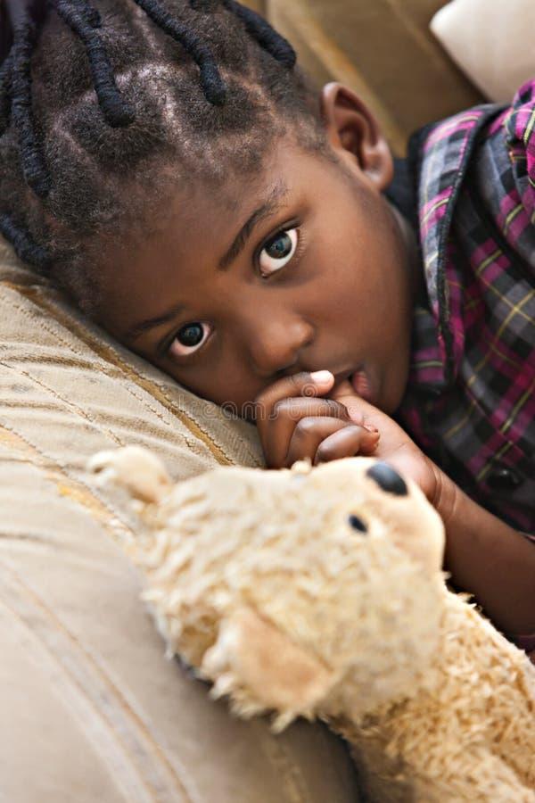Mein Teddybärfreund lizenzfreie stockfotos