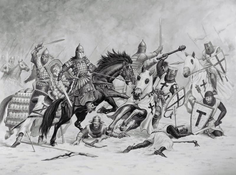 Meine Kunst 'Die Schlacht um das Eis' lizenzfreies stockbild
