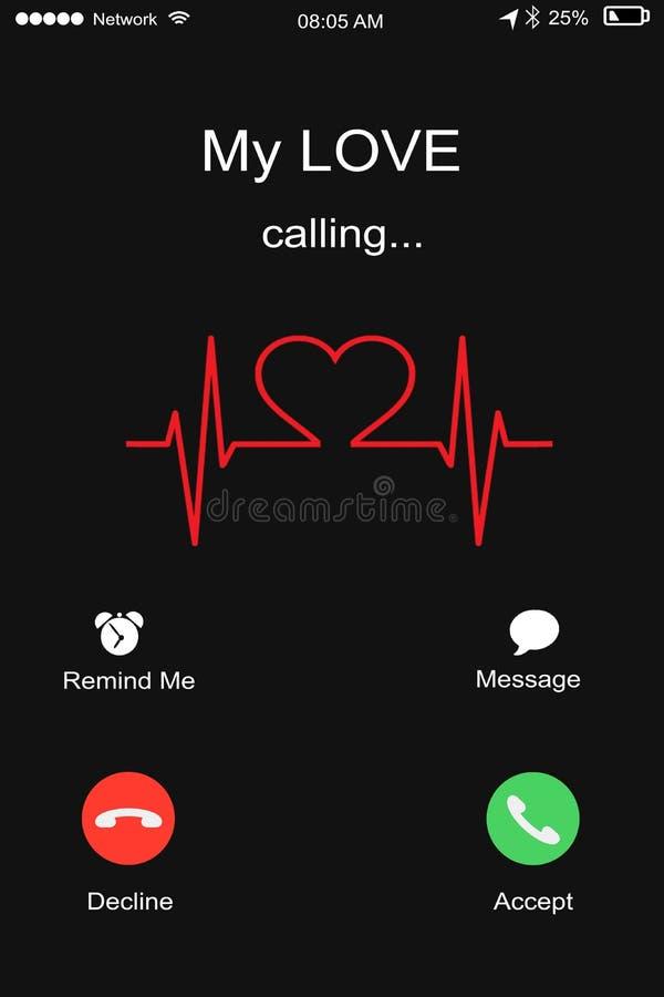Meine Liebe, Mann oder Frau einen Anruf von seinem/Gi empfangend anrufen lizenzfreie stockfotografie