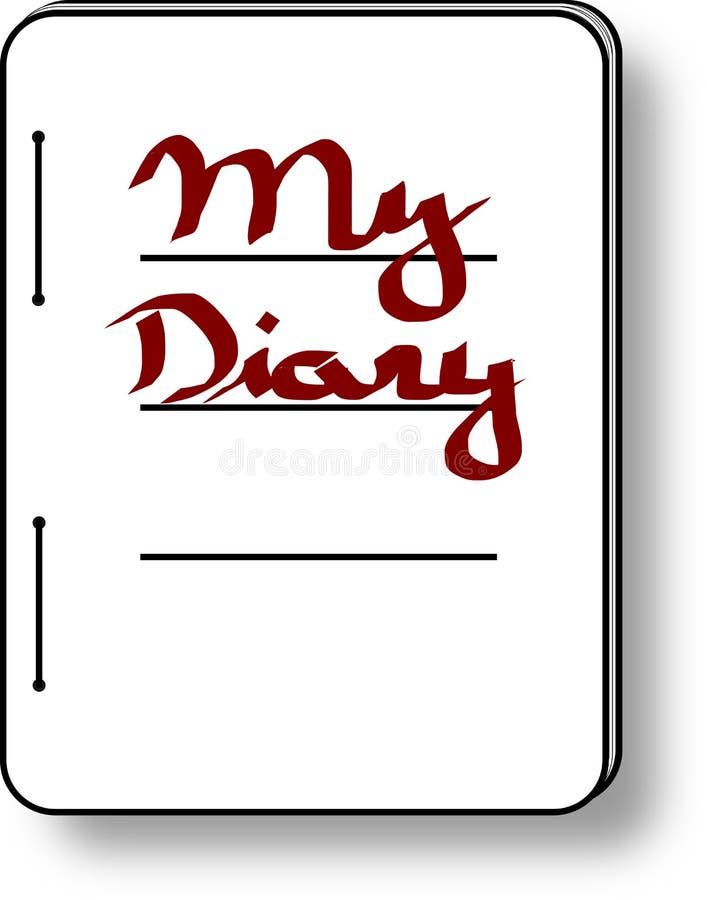 Meine Tagebuchikone lizenzfreie abbildung