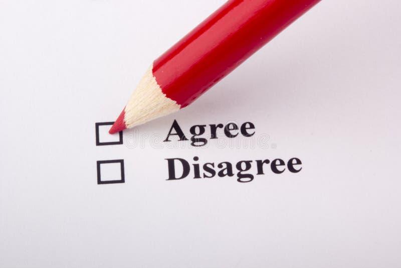 Meinungsumfrage stockbild