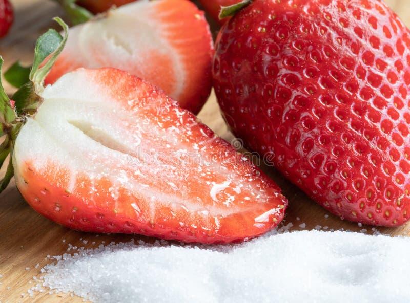 meio açúcar sweetness Morango Frutas Vermelho imagens de stock royalty free