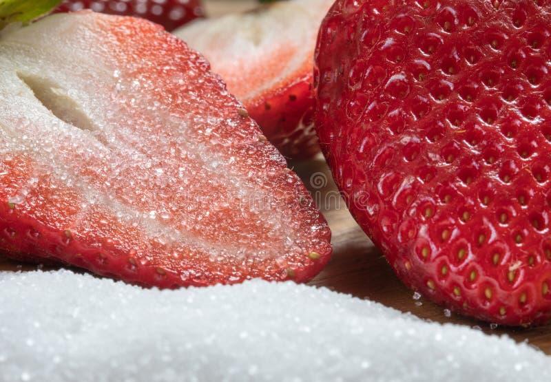 meio açúcar sweetness Morango Vermelho Frutas imagens de stock