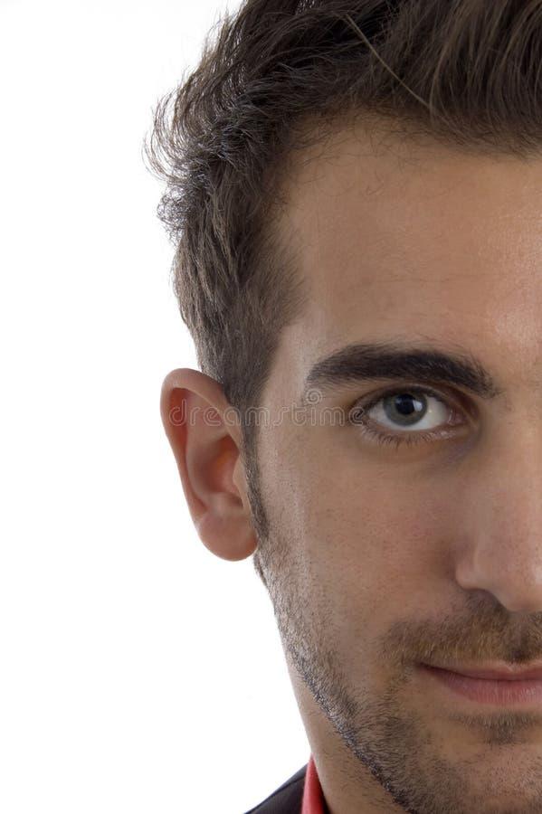 Meio comprimento da face do homem imagens de stock royalty free