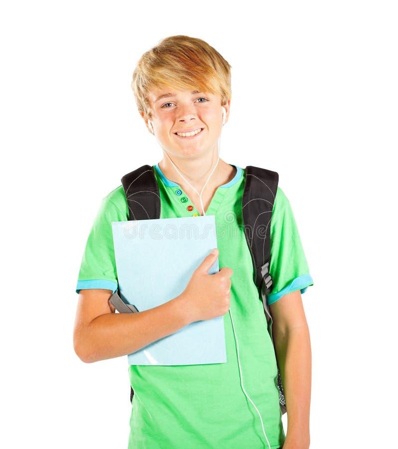 Meio comprimento do estudante adolescente foto de stock