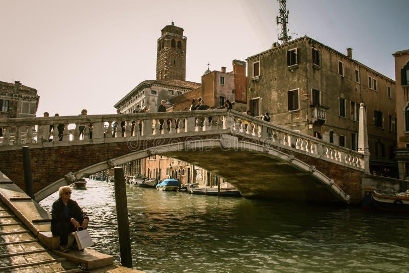Meio-dia em Veneza fotos de stock royalty free
